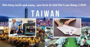 [XKLĐ ĐÀI LOAN] ( Tuyển trực tiếp 29/1)Thông tin tuyển dụng nhà máy Khoa Nghị Đài Nam Đài Loan 2020