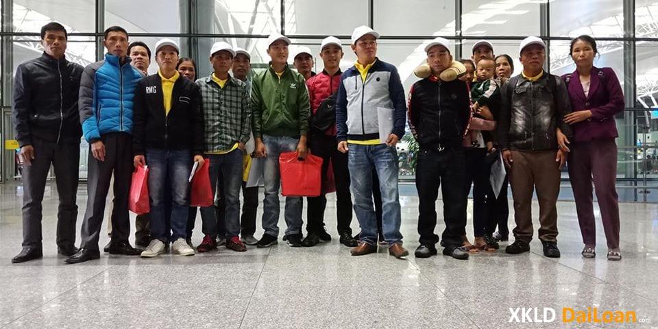 Lao động xuất cảnh đi Đài Loan tháng trước